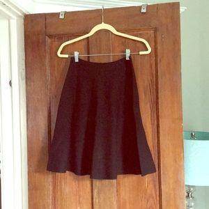Ann Taylor never worn black flare skirt